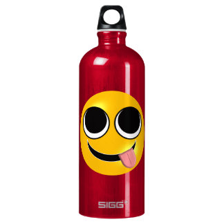 Tongue Out Emoji Water Bottle