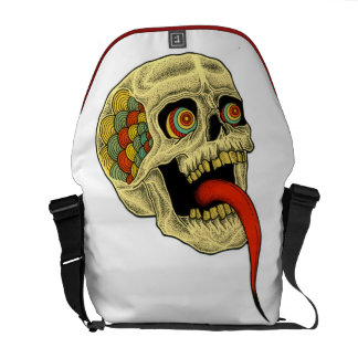 tongue skull messenger bag