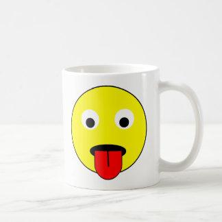 Tongue smiley coffee mug