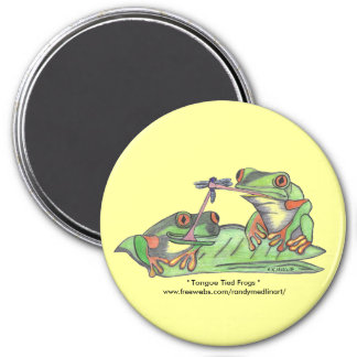 Tongue Tied Frogs Magnet