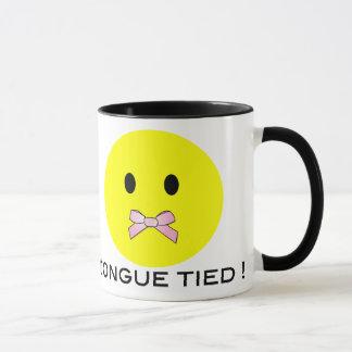 'tongue tied ' SMILEY FACE MUG