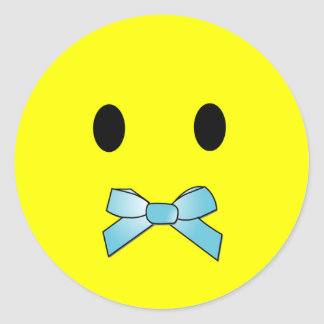 'tongue tied ' SMILEY FACE STICKERS