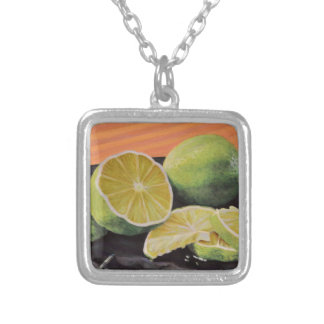 Tonic and Lime Silver Plated Necklace
