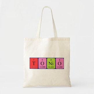 Tonio periodic table name tote bag