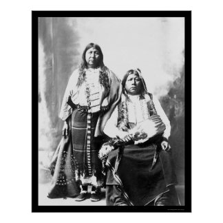 Tonkawa Indian Chief and Wife 1884 Poster