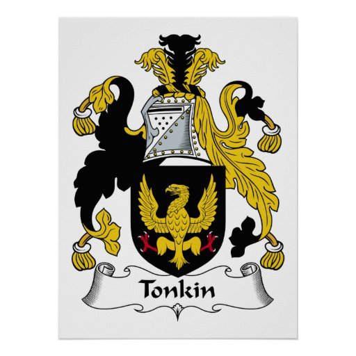Tonkin Family Crest Poster