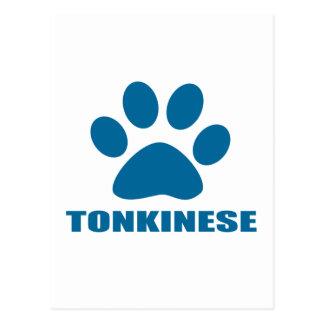 TONKINESE CAT DESIGNS POSTCARD