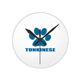 TONKINESE CAT DESIGNS ROUND CLOCK