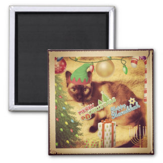 Tonkinese Holiday Greetings Square Magnet