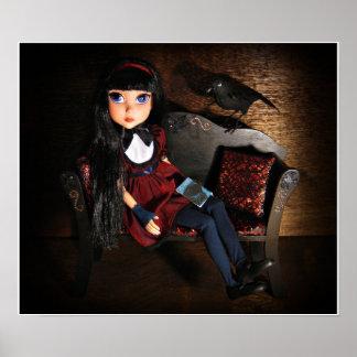 Tonner Maudlynne Macabre Doll & Pet Raven Poster
