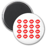 Tons of Kisses 6 Cm Round Magnet