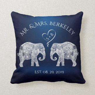 TONS OF LOVE | Elephant Couple Custom Wedding Gift Cushion