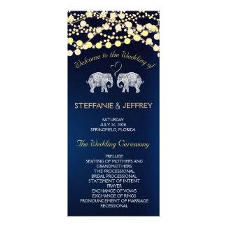 TONS OF LOVE/Elephant Night Lights Wedding Program Rack Card