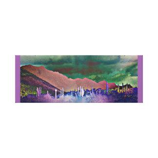 Tonto Mountains Abstract Wall Decor Canvas Print