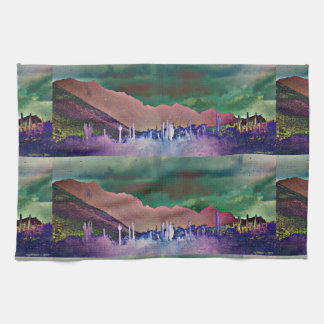 Tonto Mountains in Abstract Kitchen Towel