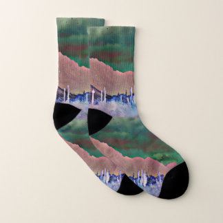 Tonto Mountains in Abstract Unisex Socks 1