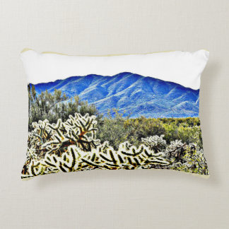 Tonto Mt. Cactus Brushed Poly Accent Pillow