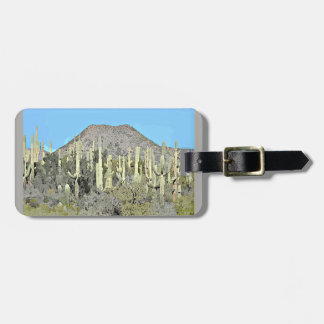 Tonto Saguaros Cartoon Luggage Tag for Suitcase