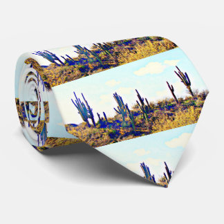 Tonto Saguaros on Hill Tie