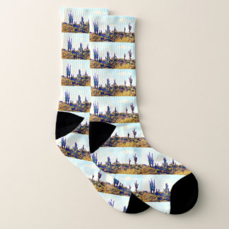 Tonto Saguaros on Hill Unisex Socks 1