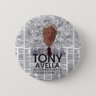 Tony Avella NYC Mayor 2017 6 Cm Round Badge