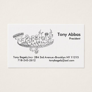 Tony Bagelz Biz Cards