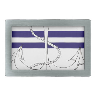 Tony Fernandes 2 blue stripe anchor Belt Buckle