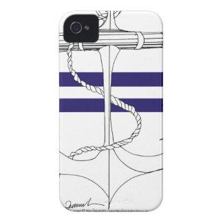 Tony Fernandes 2 blue stripe anchor Case-Mate iPhone 4 Case