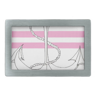 Tony Fernandes 2 pink stripe anchor Belt Buckle