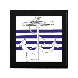 Tony Fernandes 4 blue stripe anchor Gift Box