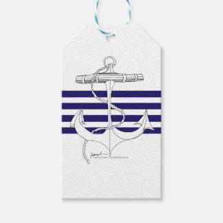 Tony Fernandes 4 blue stripe anchor Gift Tags