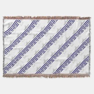 Tony Fernandes 4 blue stripe anchor Throw Blanket