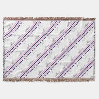 Tony Fernandes 4 mix stripe anchor Throw Blanket