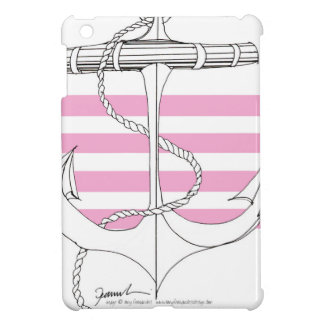 Tony Fernandes 4 pink stripe anchor iPad Mini Covers