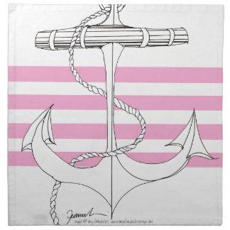 Tony Fernandes 4 pink stripe anchor Napkin