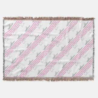 Tony Fernandes 4 pink stripe anchor Throw Blanket