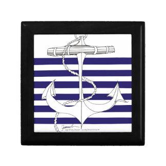 Tony Fernandes 6 blue stripe anchor Gift Box