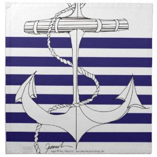 Tony Fernandes 6 blue stripe anchor Napkin