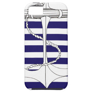 Tony Fernandes 6 blue stripe anchor Tough iPhone 5 Case