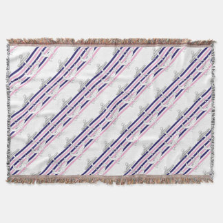 Tony Fernandes 6 mix stripe anchor Throw Blanket