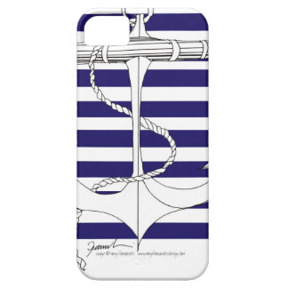 Tony Fernandes 8 blue stripe anchor iPhone 5 Case