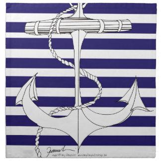 Tony Fernandes 8 blue stripe anchor Napkin