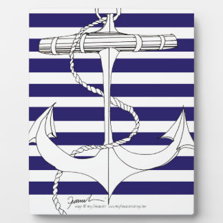Tony Fernandes 8 blue stripe anchor Plaque