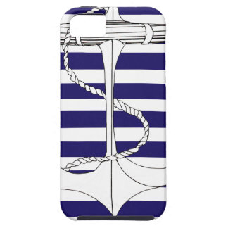 Tony Fernandes 8 blue stripe anchor Tough iPhone 5 Case