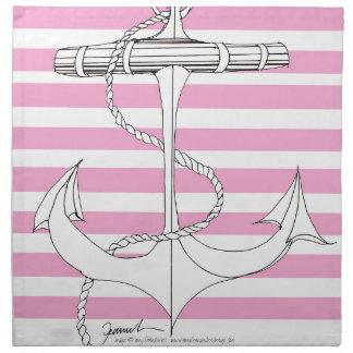 Tony Fernandes 8 pink stripe anchor Napkin
