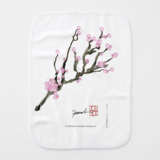 Tony Fernandes cherry blossom 8 Burp Cloth