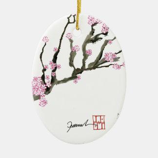 Tony Fernandes cherry blossom 8 Ceramic Ornament