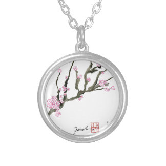 Tony Fernandes cherry blossom 8 Silver Plated Necklace