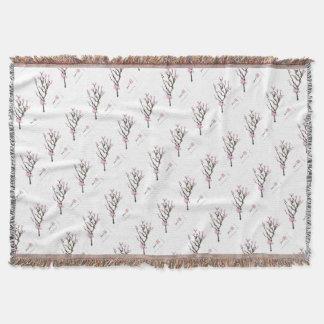 Tony Fernandes cherry blossom 8 Throw Blanket