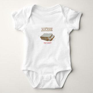 Tony Fernandes's Man Food - bread sandwich Baby Bodysuit